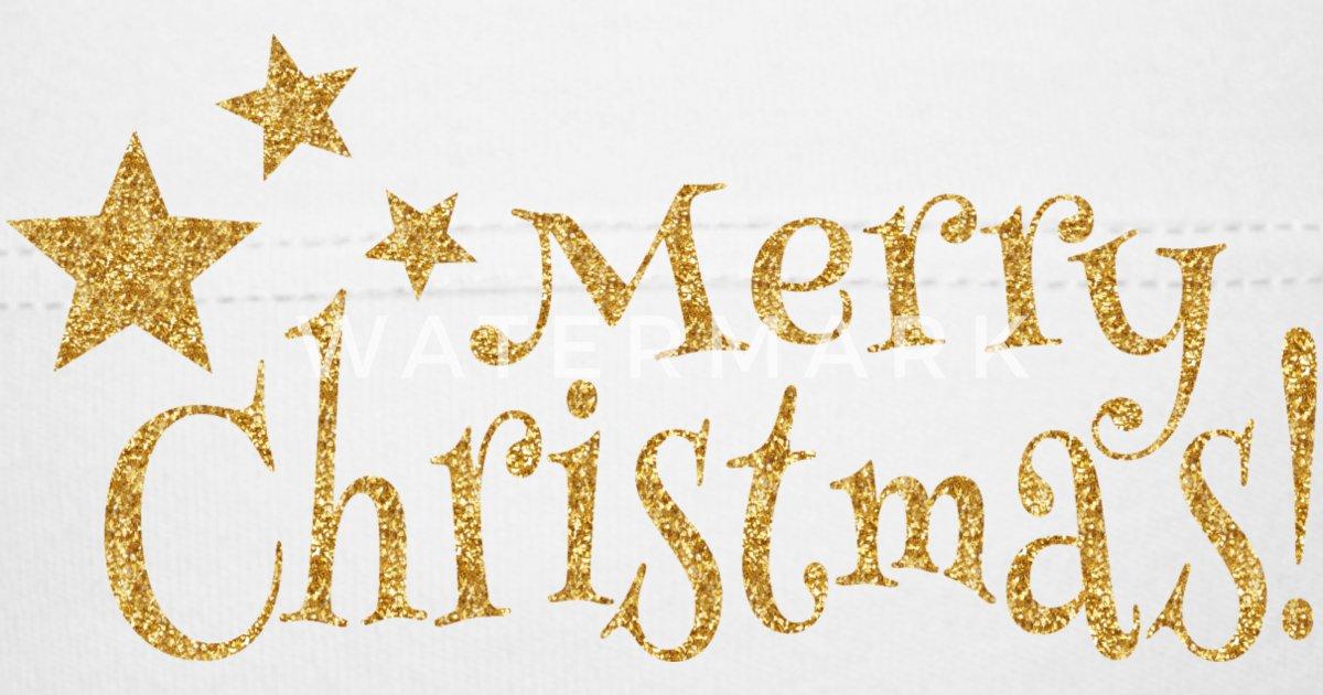 Merry Christmas Schrift Frohe Weihnachten von Darlyana | Spreadshirt