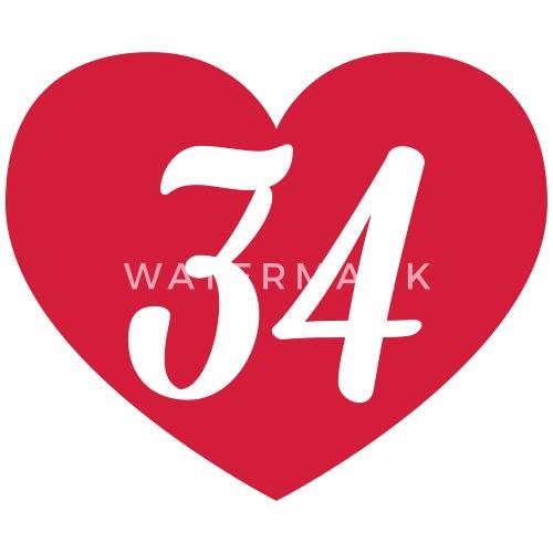 34 Geburtstag Herz Von Shirtrecycler Spreadshirt