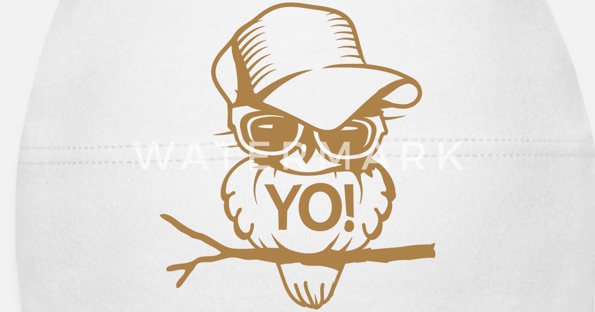 Un oiseau avec des lunettes de soleil Bonnet Bébé   Spreadshirt f30a3a101ac