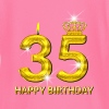 35 - happy birthday - verjaardag - nummer goud - T-shirt
