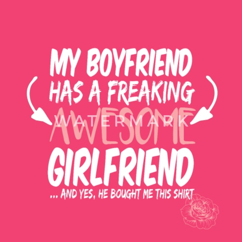 Freaking Awesome Girlfriend Valentines Day Gift Baby Langarmshirt