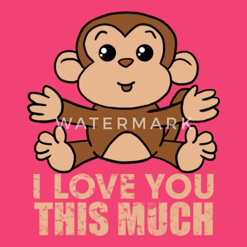 Affe Ich Liebe Dich So Viel Valentinstag Geschenk Baby Langarmshirt