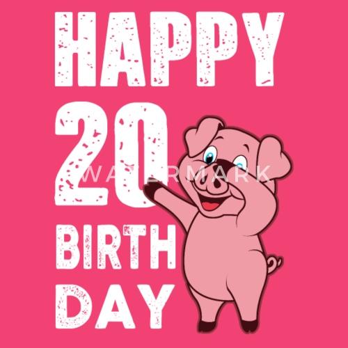 20 Jaar Gelukkige Verjaardag Piggy Baby Longsleeve Spreadshirt