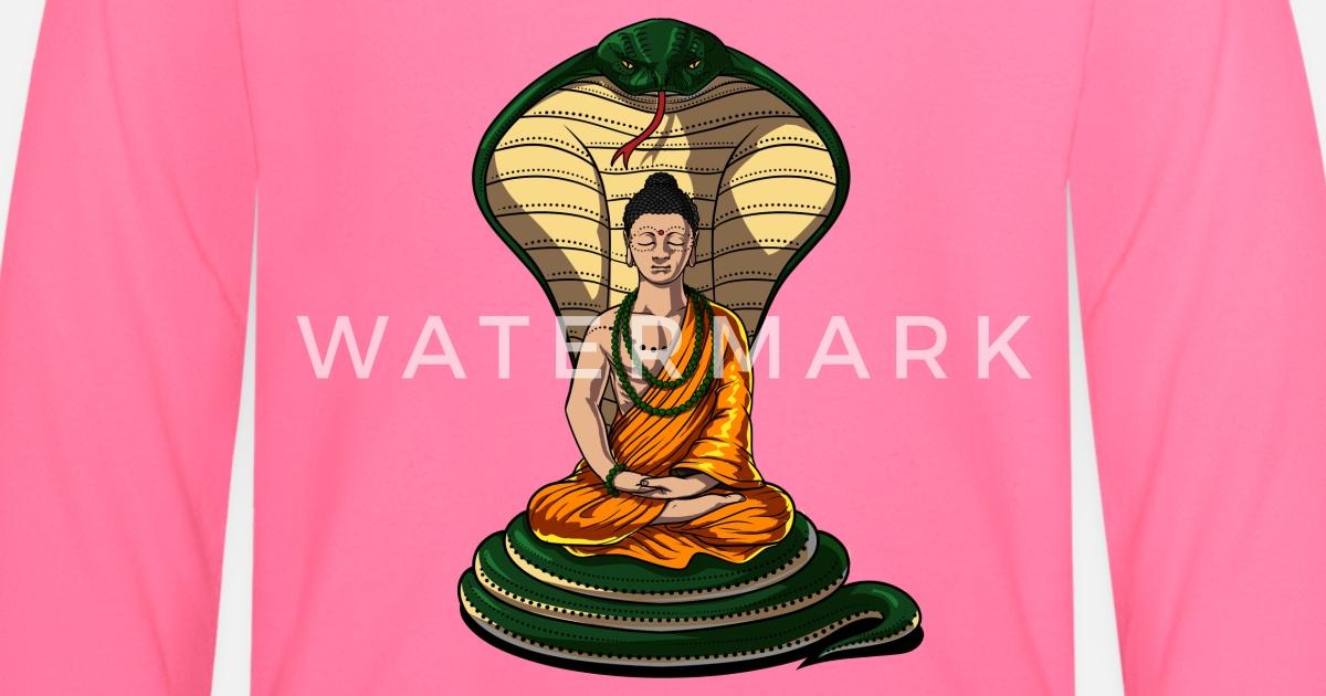 Buddha Baum des Lebens Zen Yoga Meditation Spirituelles Langarmshirt