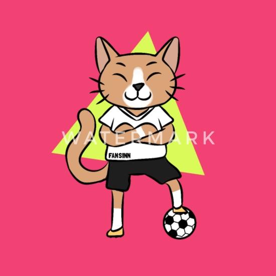 Katze Fussball Sport Cartoon Comic Kinder Geschenk Baby