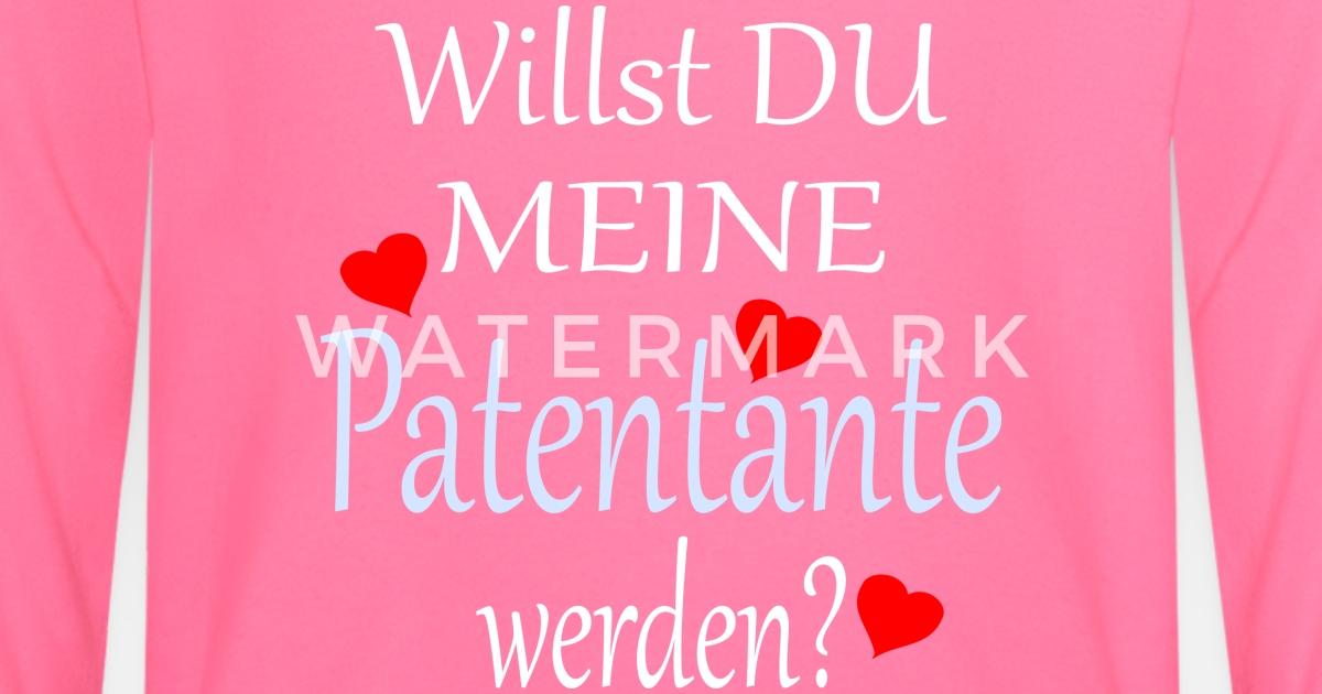 Patentante Taufe Frage Süsser Spruch Baby Langarmshirt Spreadshirt