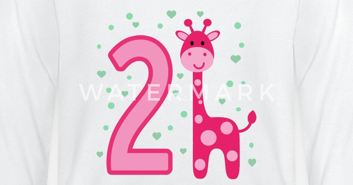 Tweede Verjaardag 2e Verjaardag Twee Jaar Meisje Baby Longsleeve