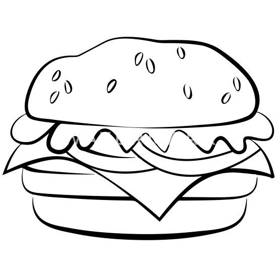 hamburger tekening baby longsleeve spreadshirt