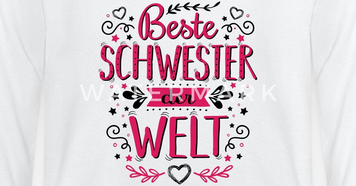 Beste Schwester der Welt Spruch Sprüche Geschenk von Melia321 ...