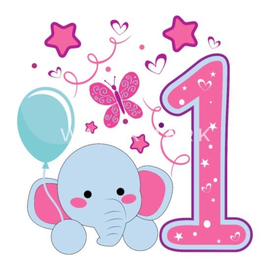 Erster Geburtstag 1 Geburtstag Ein Jahr Geschenk Baby Langarmshirt Weiß