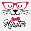 Swag hipsta hipster pussy cat animal style face - Baby Long Sleeve T-Shirt