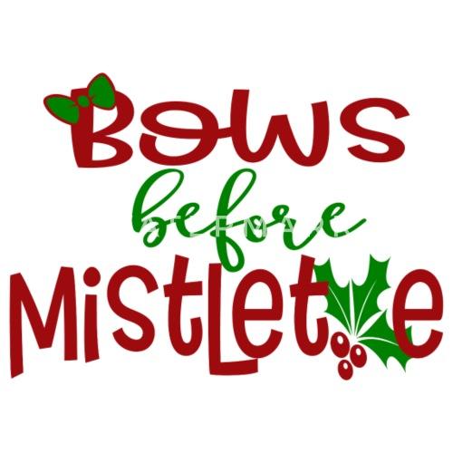 Bows Before Mistletoe Spruch Weihnachten Englisch Baby Langarmshirt