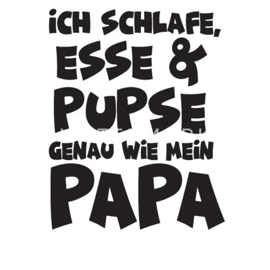 Spreadshirt Schlafe Esse Pupse wie Papa Baby Bio-Langarm-Body