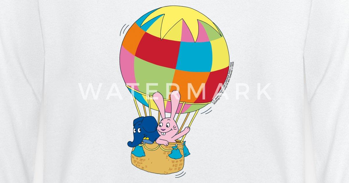 elefant und hase ballon fahren baby langarmshirt  spreadshirt