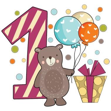 Erster Geburtstag 1 Ein Jahr Junge Geschenk Teddy Baby Langarmshirt