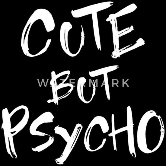Cute But Psycho - Horror motive in white Bum bag - black