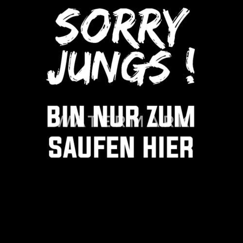 Lustige Spruche Sorry Jungs Shirt Geschenk Weiss Gurteltasche