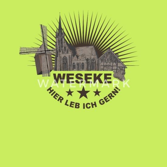 Weseke Münsterland Kreis Borken Kirche Zwiebel Gürteltasche