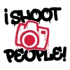 I shoot people - Photography - T-shirt bio col V Stanley & Stella Femme