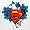 Superman Super Mom Flowers Red - T-shirt bio col V Stanley & Stella Femme