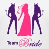 team bride devil angel - Women's Organic V-Neck T-Shirt by Stanley & Stella