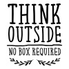Think Outside - No Box Required - Women's Organic V-Neck T-Shirt by Stanley & Stella