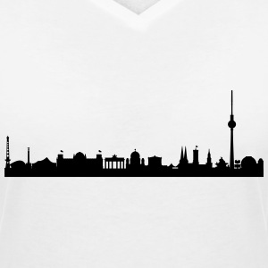 Berlin Skyline - Women's Organic V-Neck T-Shirt by Stanley & Stella