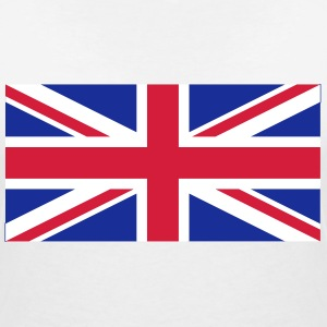 National Flag Of United Kingdom - Ekologisk T-shirt med V-ringning dam från Stanley & Stella