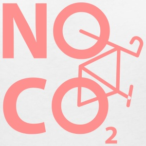 NO CO2 - cyclist and cyclist design - Women's V-Neck T-Shirt