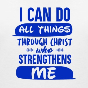 With God you can do Anything - Women's Organic V-Neck T-Shirt by Stanley & Stella