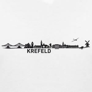 Krefeld skyline - Women's V-Neck T-Shirt