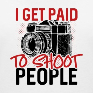 I get paid to shoot people - Women's Organic V-Neck T-Shirt by Stanley & Stella