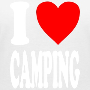 I love CAMPING - Women's Organic V-Neck T-Shirt by Stanley & Stella
