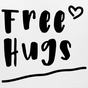 Free Hugs - Women's Organic V-Neck T-Shirt by Stanley & Stella