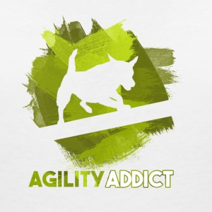 Agility Addict Green - Women's Organic V-Neck T-Shirt by Stanley & Stella