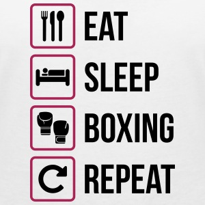Eat Sleep Boxing Repeat - T-shirt ecologica da donna con scollo a V di Stanley & Stella