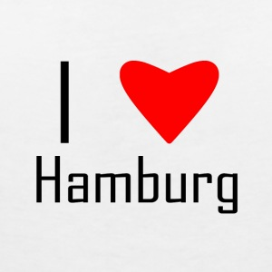 I love hamburg - Women's V-Neck T-Shirt