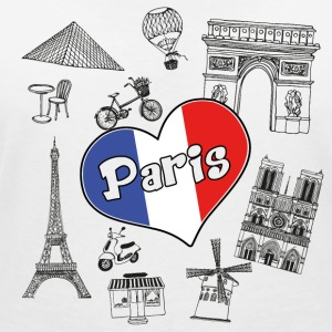 I love paris 2 - Women's Organic V-Neck T-Shirt by Stanley & Stella