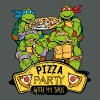 Tortues Ninja Pizza Party With My Bros - T-shirt bio col V Stanley & Stella Femme