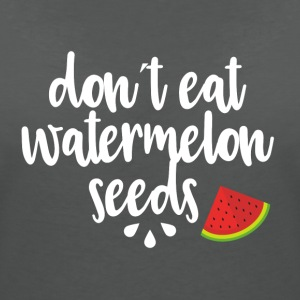 Dont eat watermelon seeds - white - Women's Organic V-Neck T-Shirt by Stanley & Stella