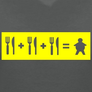 Eat + Eat + Eat = Fat (stencil) - Women's V-Neck T-Shirt