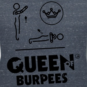 Queen of Burpees - Women's Organic V-Neck T-Shirt by Stanley & Stella