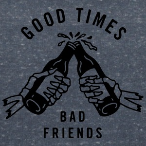 Good times bad friends - Women's Organic V-Neck T-Shirt by Stanley & Stella