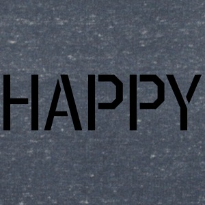Happy in minimalistic font - Women's V-Neck T-Shirt