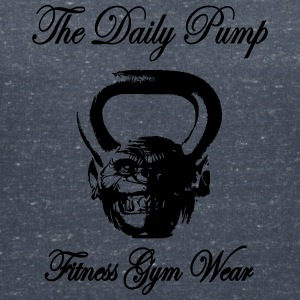 The Daily Pump Chimp Kettlebell - Women's Organic V-Neck T-Shirt by Stanley & Stella