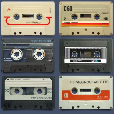 vintage tape: 6 tapes