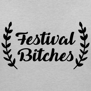 Festival Bitches - Bitch - Festivals - Party - Women's Organic V-Neck T-Shirt by Stanley & Stella