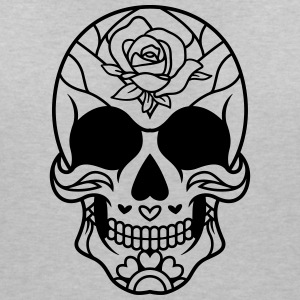 Sugar Skull Mexican rose / sugar skull - Women's V-Neck T-Shirt