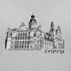 Leipzig City Hall with signature - Women's Organic V-Neck T-Shirt by Stanley & Stella
