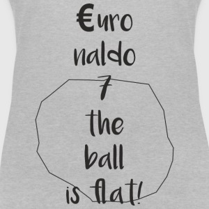Euronaldo - the ball is flat, no longer round - Women's Organic V-Neck T-Shirt by Stanley & Stella